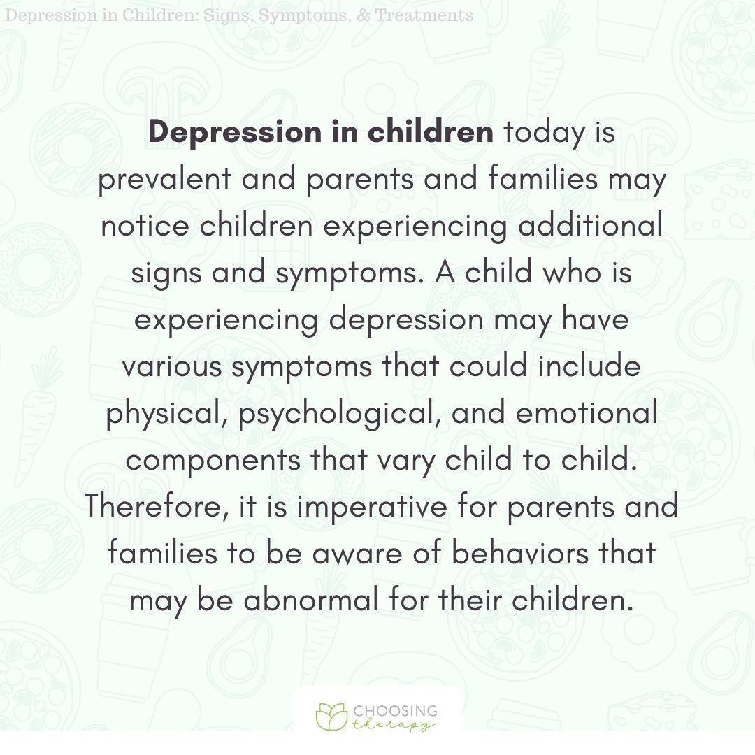 Depression in Children Overview