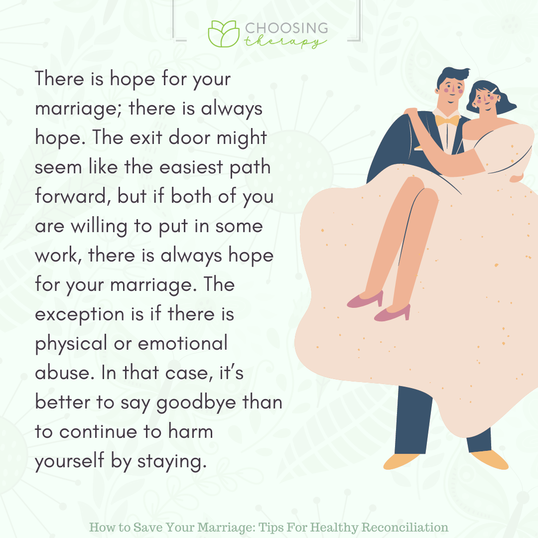 There are a Lot of Ways to Save Your Marriage